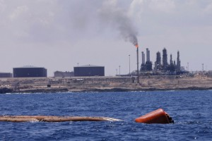 A general view of the port and Zawiya Oil Refinery
